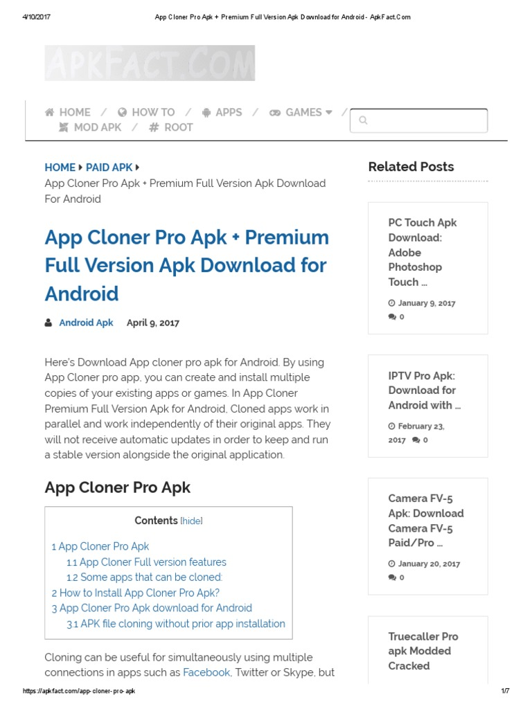 App Cloner Pro Apk + Premium Full Version Apk Download for