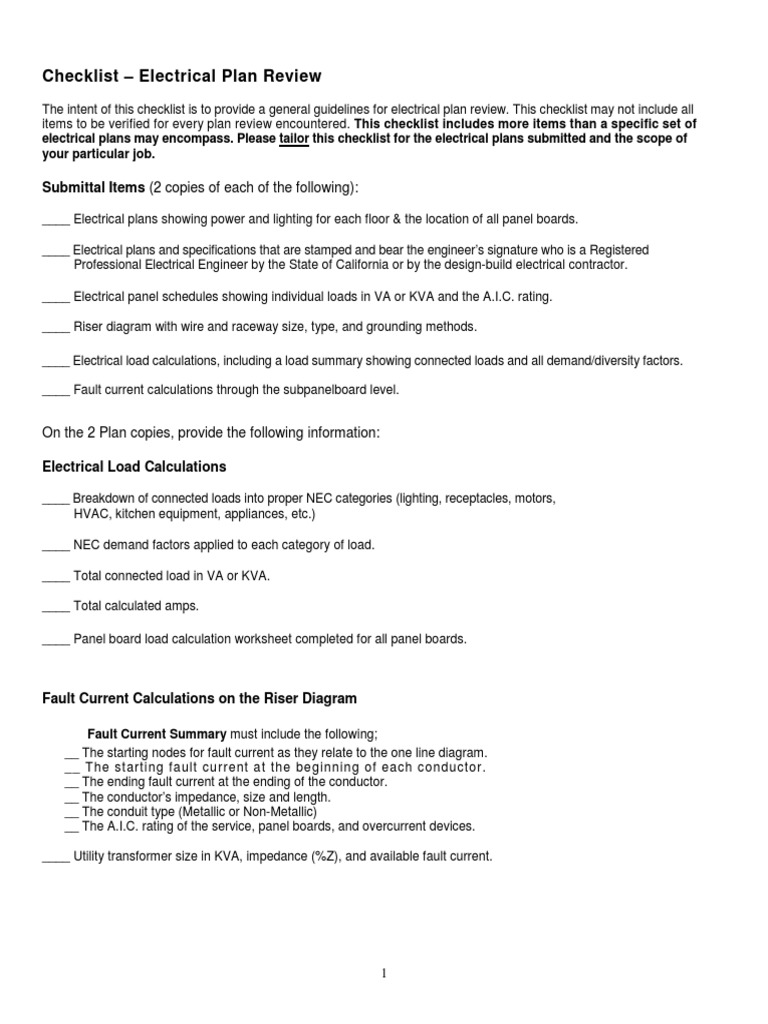 electrical plan checklist wiring diagram Electrical Plans Review Course