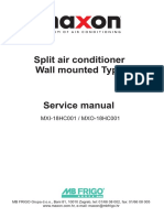 Split Air Conditioner Type - Service Manual