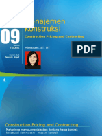 PPT 9 Construction Pricing and Contracting