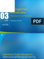 PPT 3 Organizing for Project Management