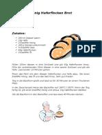 Honig Haferflocken Brot