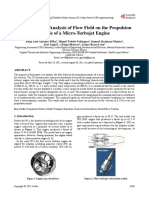 THESIS Computational Analysis of Flow Field on the Propulsion Nozzle of a Micro-Turbojet Engine