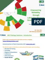 Empowering Reliability Through Lubrication Program Development (LPD) Udey Dhir