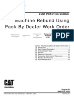 Machine Rebuild Process Using Pack by Dealer Work Order