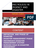 Nursing Role(s) in Emergency and Disaster