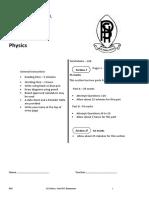 Penrith 2013 Physics Trials & Solutions