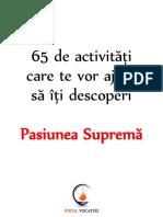 65 de Activitati Pentru a-ti Descoperi Pasiunea Suprema