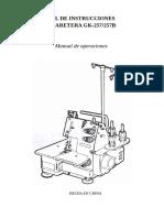 Manual Collareta Gk257-257B