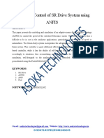 Design and Control of SR Drive System Using ANFIS