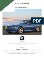 Group 4 Analysis -BMW Z3 Roadster