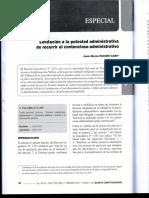 Limitacion a La Potestad Administrativa de Recurrir Al Contencioso Administrativo - Autor Jose Maria Pacori Cari091