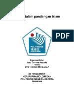 IPTEK Dalam Pandangan Islam