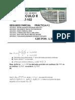 Practica 2 SEGUNDO PARCIAL Calculo II 2015