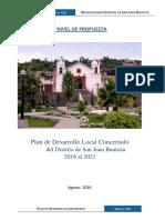 Pdc Distrito San Juan Bautista 2016 2021