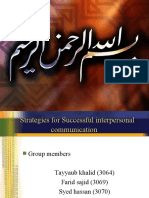 Successful Interpersonal Comunication Tayyaub Khalid