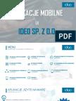 Profesjonalne aplikacje mobilne w Ideo Sp. z o.o.