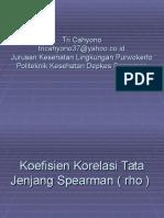 19596989 Statistik Koefisien Korelasi Tata Jenjang Spearman Rho
