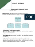 Definições Em Farmacognosia
