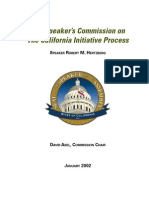 CA Speaker's Commission on Calif Initiative Process 2002