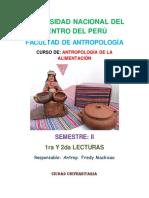 1ra y 2da Lectura Antrop. de La Alimentación 2012 . II PDF