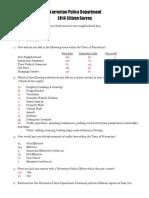 2014 Warrenton Police Survey