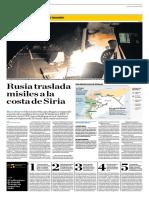 Rusia Traslada Misiles a La Costa de Siria