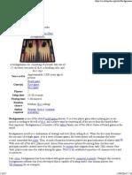 Backgammon - Wikipedia, The Free Encyclopedia