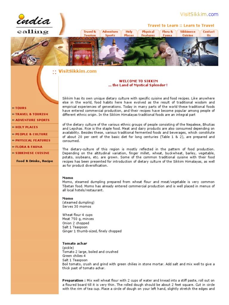 Sikkim food recipes curry dumpling forumfinder Choice Image