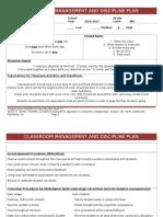 classroom management plan-specmeth
