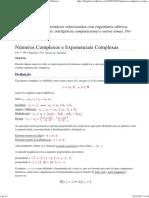 Números Complexos e Exponenciais Complexas