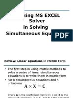 Utilizing MS EXCEL Solver 1