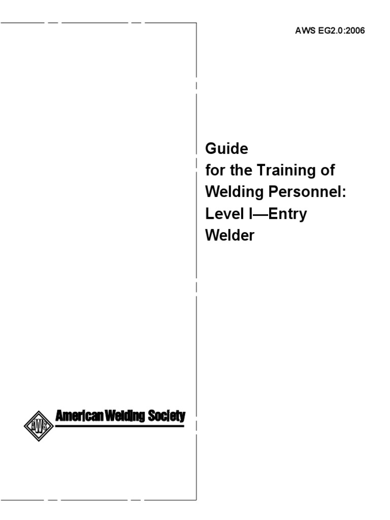 NCCER | Welding | Pearson qualifications aws entry level welder