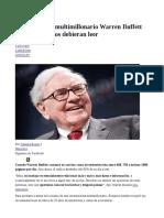 9 Libros Que El Multimillonario Warren Buffett Piensa Que Todos Debieran Leer