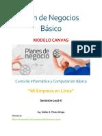 Modelo de Plan de Negocios Básico - Modelo Canvas
