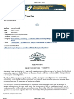 Gladue Writer - Toronto Ontario (1 Full-time - 1 one year contract)