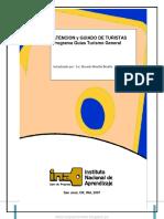 Atencion y Guiado de Turistas; Programa Guías Turismo General