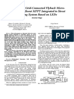 Photovoltaic Grid-Connected Flyback Micro Inverter and Boost MPPT Integrated to Street Lighting Based on LEDs