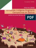 Territorios Indígena Originario Campesinos en Bolivia