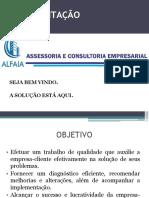 Apresentação Alfaia Assessoria e Consultoria Empresarial