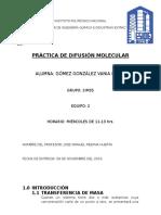 Practica de Difusión Molecular ESIQIE FFT