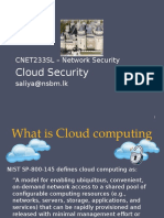 Lecture 8 - Cloud Security