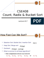 18370 Lecture17!17!17458 Count,Radix and Bucket