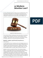 What Are the Modern Sources of Muslim Law