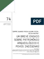 Márcia Bezerra (Artigo - Sempre Quando Passa Alguma Coisa, Deixa Rastro. Um Breve Ensaio Sobre o Patrimonio Arqueológico e Povos Indígenas).PDF