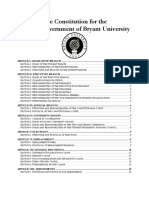Constitution for the Student Government of Bryant University