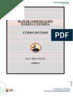 Plan de comunicación interna-externa del Centro