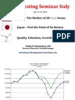 Presentation China - Japan - QVG for Value Investing Seminar by Vitaliy Katsenelson