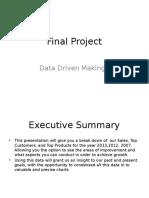 data driven decision making i