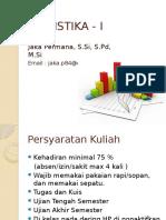 Statistika I - Pertemuan Ke 1